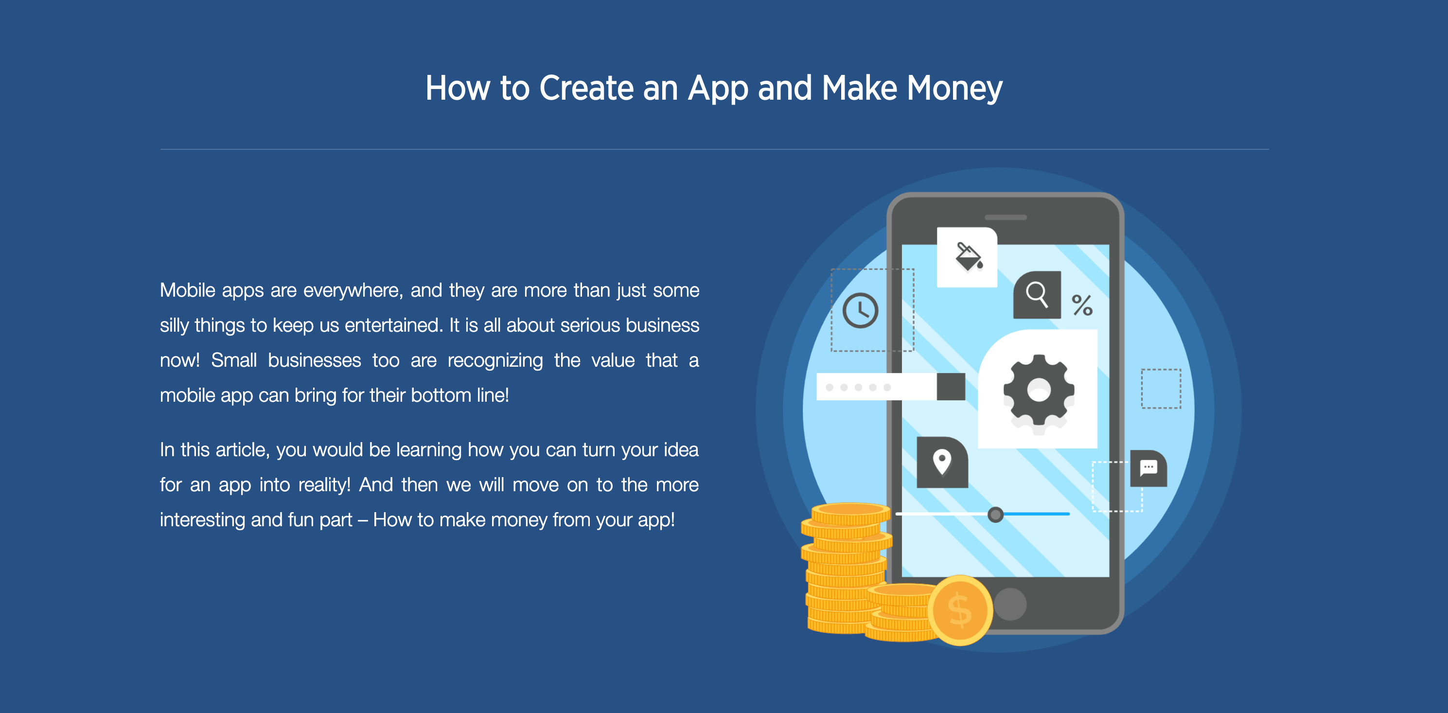 How to Create an App and Make Money from Apps?