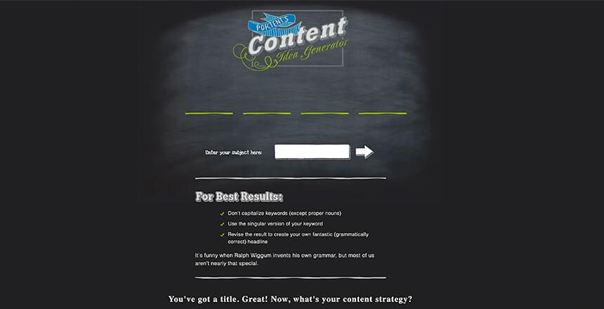 Portent's-Content-Idea-Generator